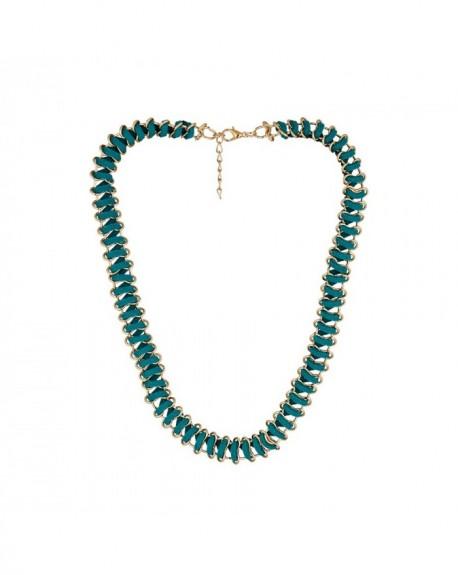Collier De cordon Massaï vêtu Lacet vert, doré