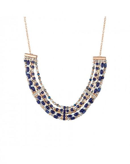 Plastron Massaï Nsia Perles bleus, cuivres