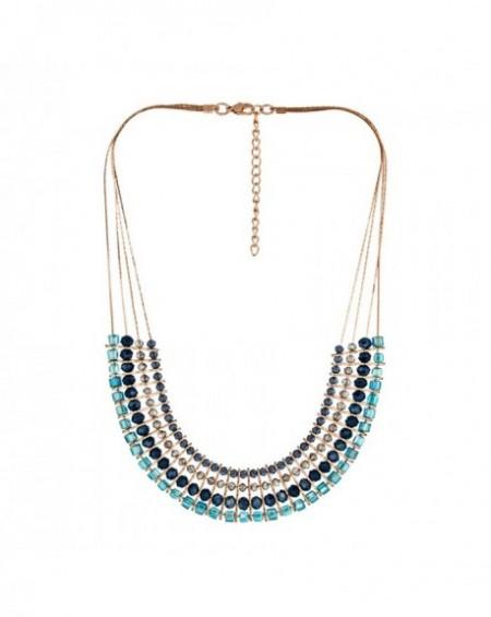 Plastron Massaï Yaa Perles bleus