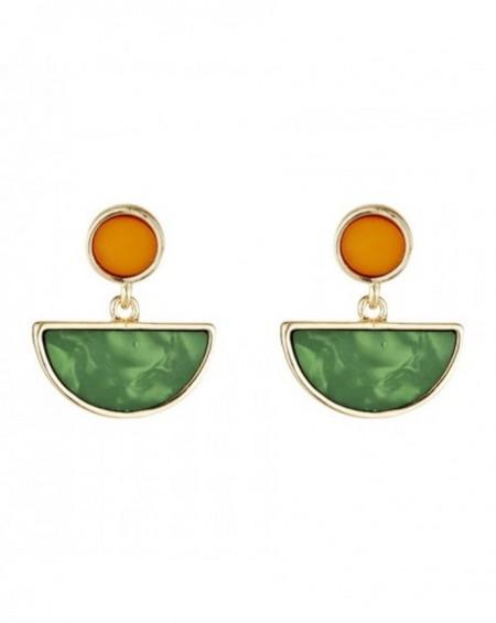 Boucles d'oreilles Massaï Barma Vertes, oranges