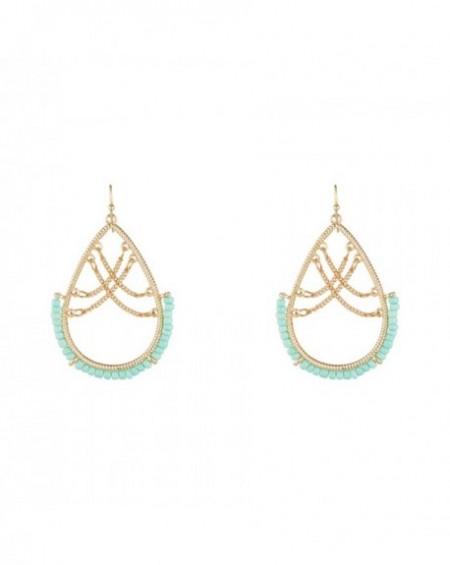 Boucles d'oreilles Massaï Koh Tao Perles turquoises