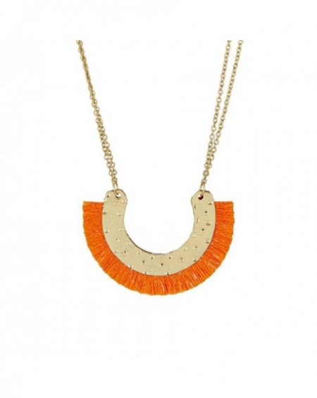 Collier Massaï Issas Pompon orange