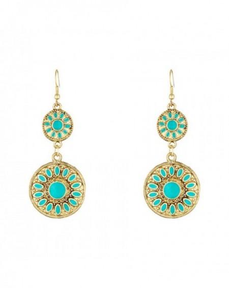 Boucles d'oreilles Massaï Shana Bleu turquoise